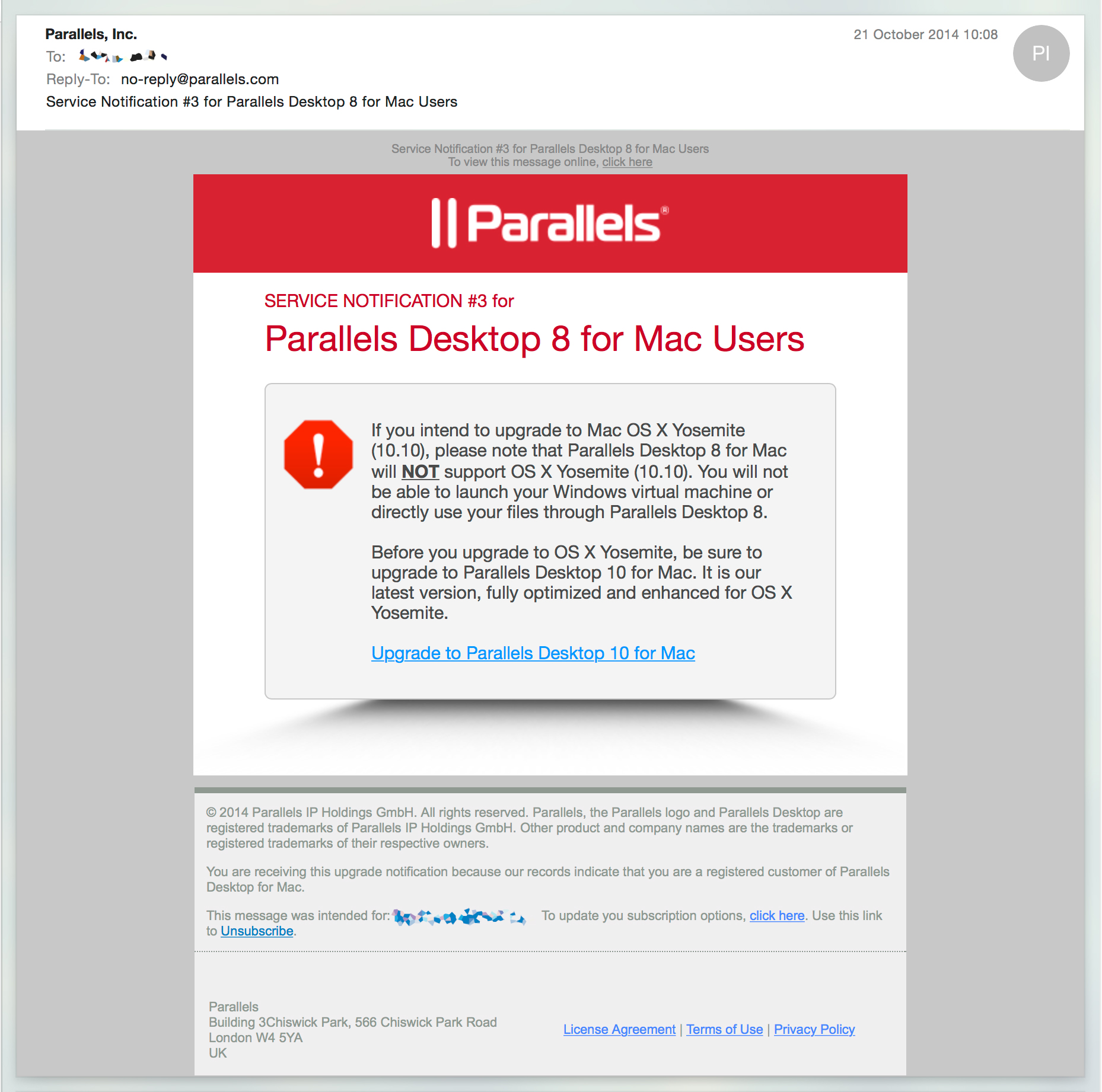 Parallels Desktop 8 For Mac And Yosemity Compatility